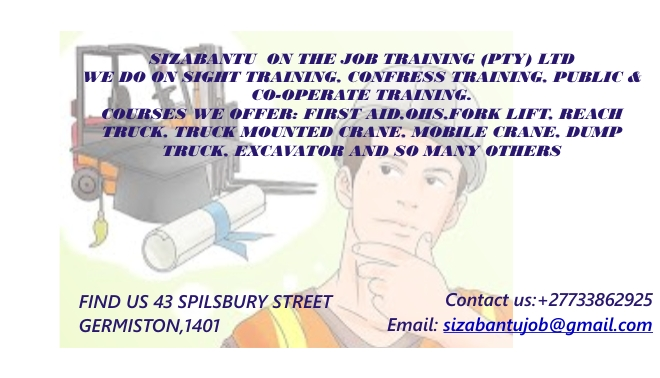 Fork lift,TLB training services & Certificate Renewals.0733862925