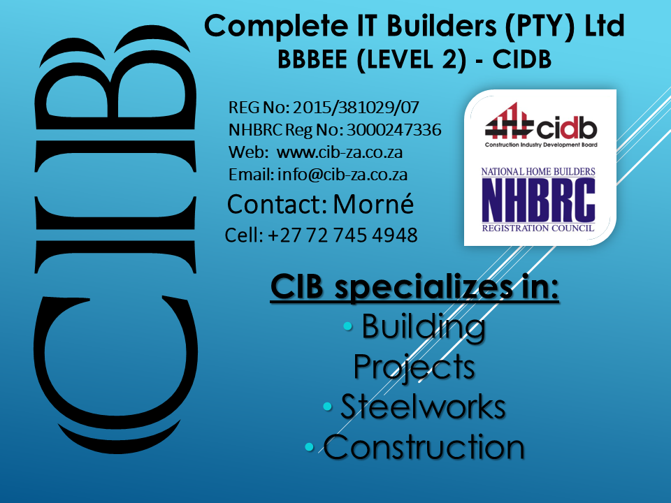 CIB Building, Construction, Projects & Steelwork