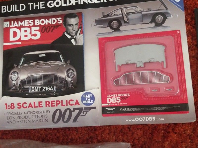 1 8 Scale James Bond 007 Aston Martin Db5 Complete Unopened Extremely Rare To Find Now