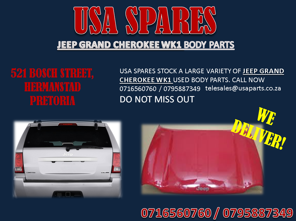JEEP GRAND CHEROKEE WK1 BODY PARTS FOR SALE- USA SPARES