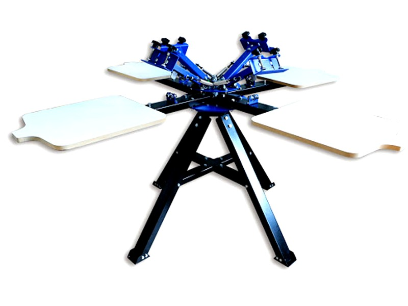SP-S4 ScreenMaster Four Colour Four Station Carousel Bi-Directional Silkscreen & T-Shirt