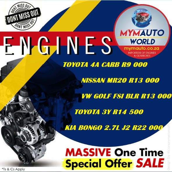 MYM AUTOWORLD WEEKLY SPECIALS Complete Second hand engines