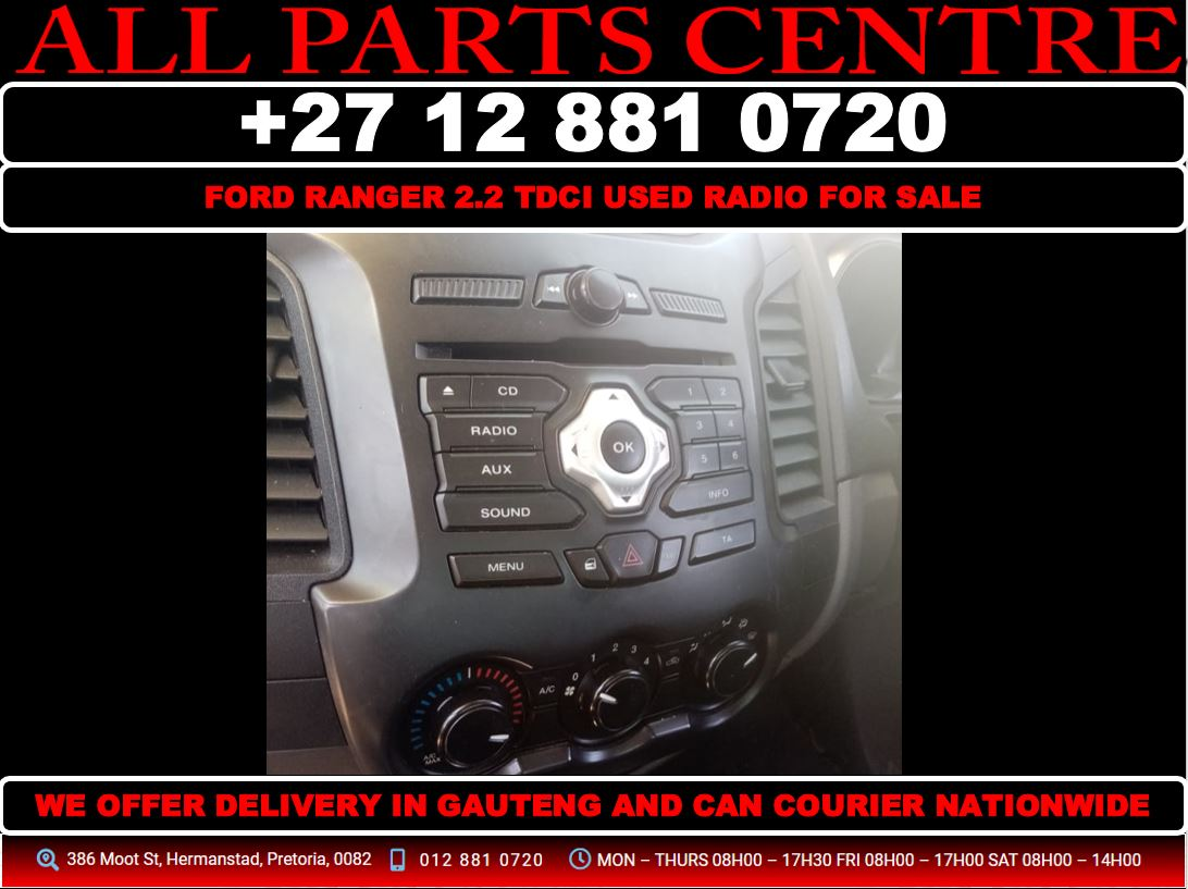 Ford ranger 2.2 tdci used radio for sale