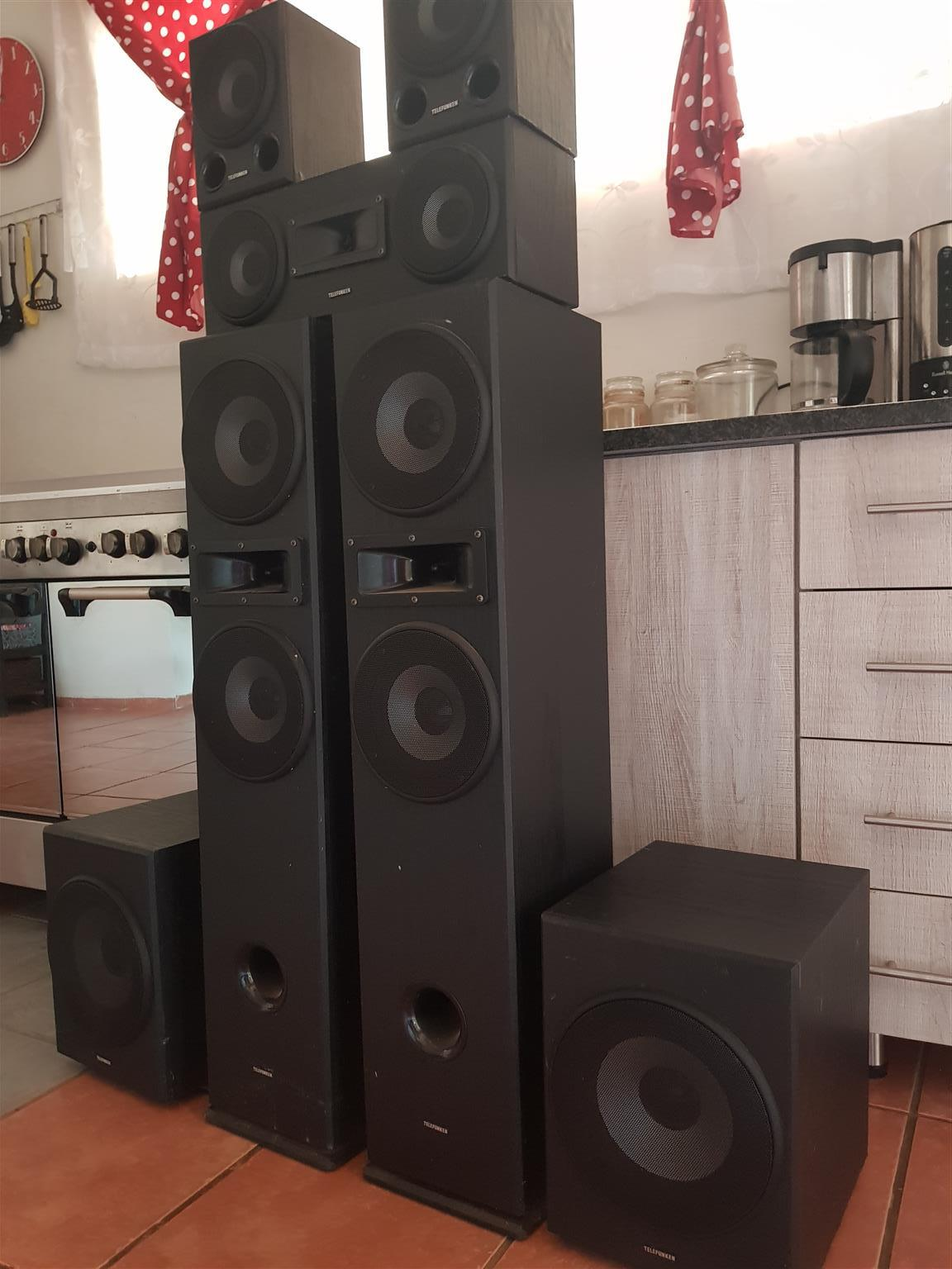 Telefunkin sound system and subs for sale.