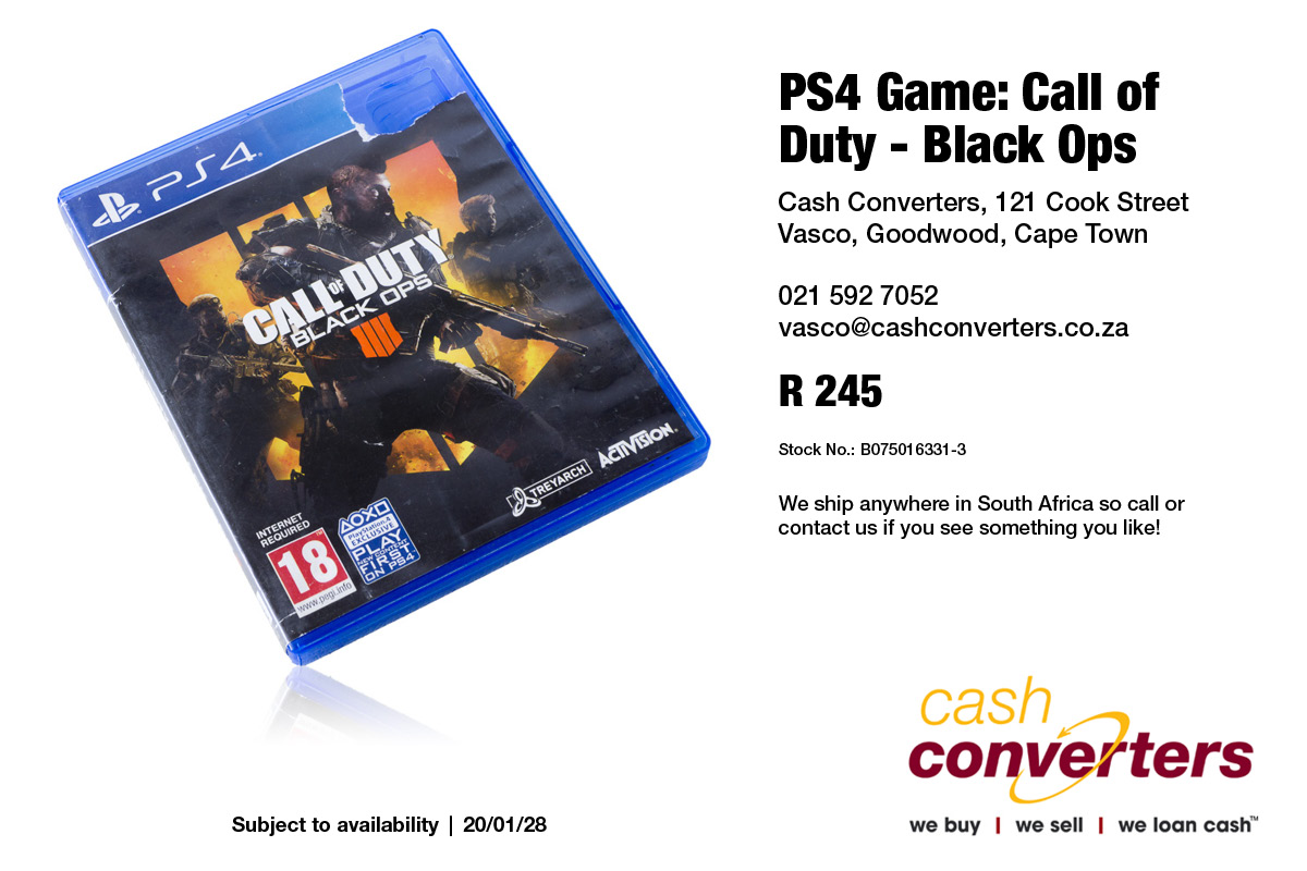 PS4 Game: Call of Duty - Black Ops