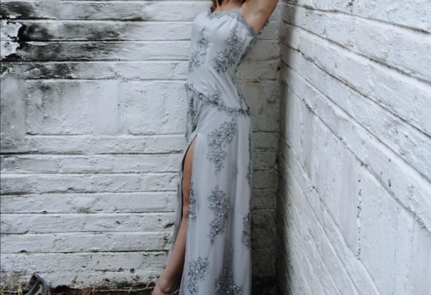 Grey Lace Matric Farewell Dress