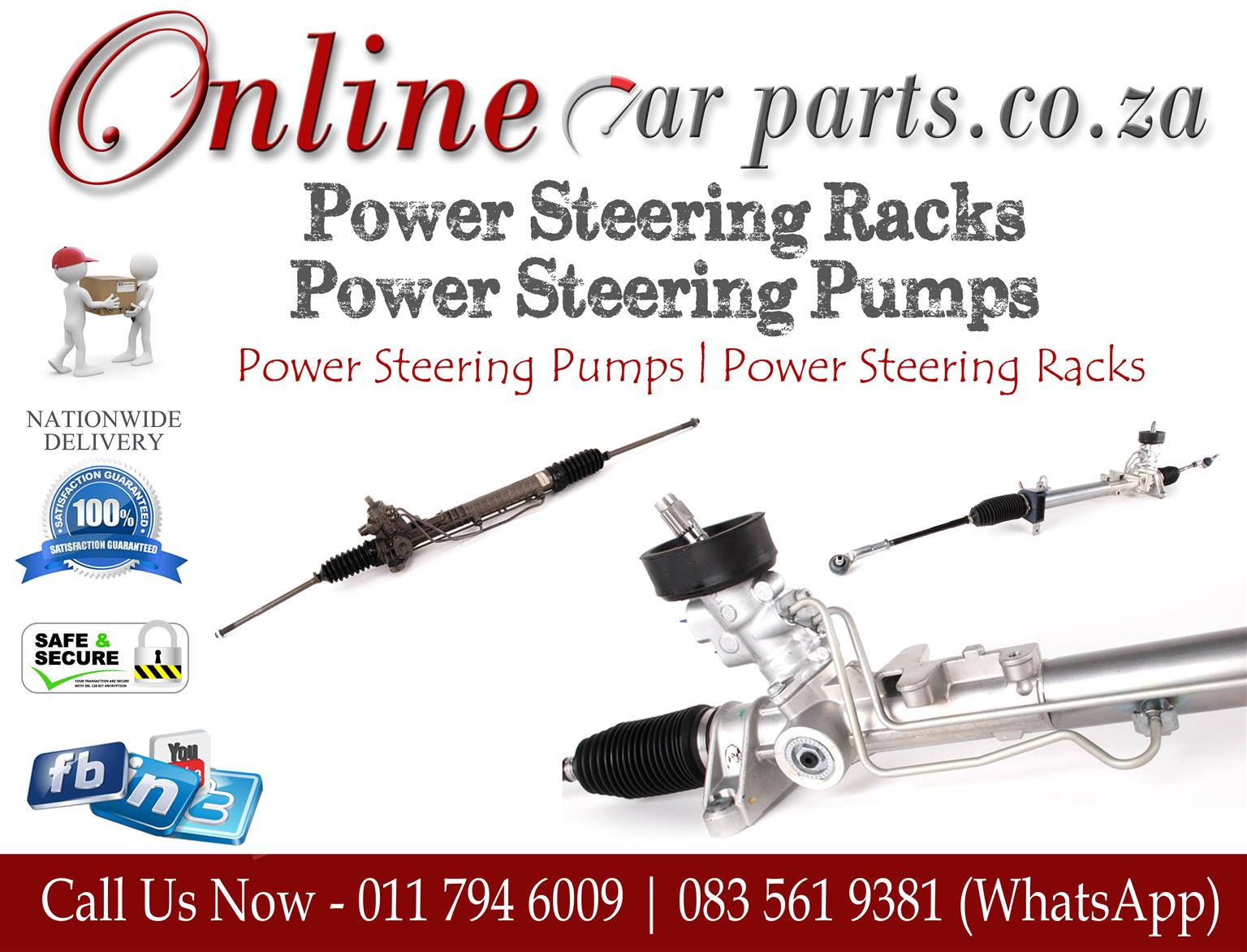 High Quality Power Steering Racks Power Steering Pumps Rack Ends Tie Rod Ends