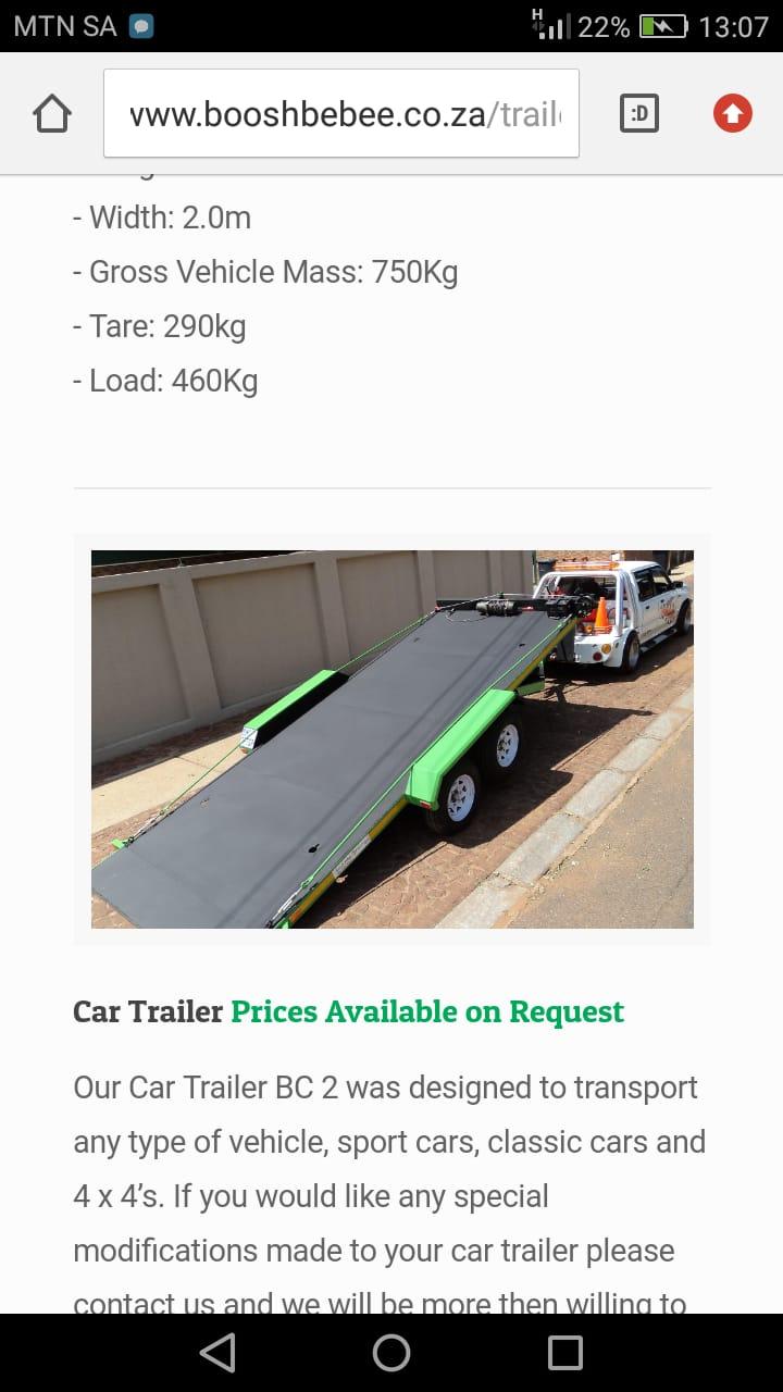 Car Trailer Solid Floor