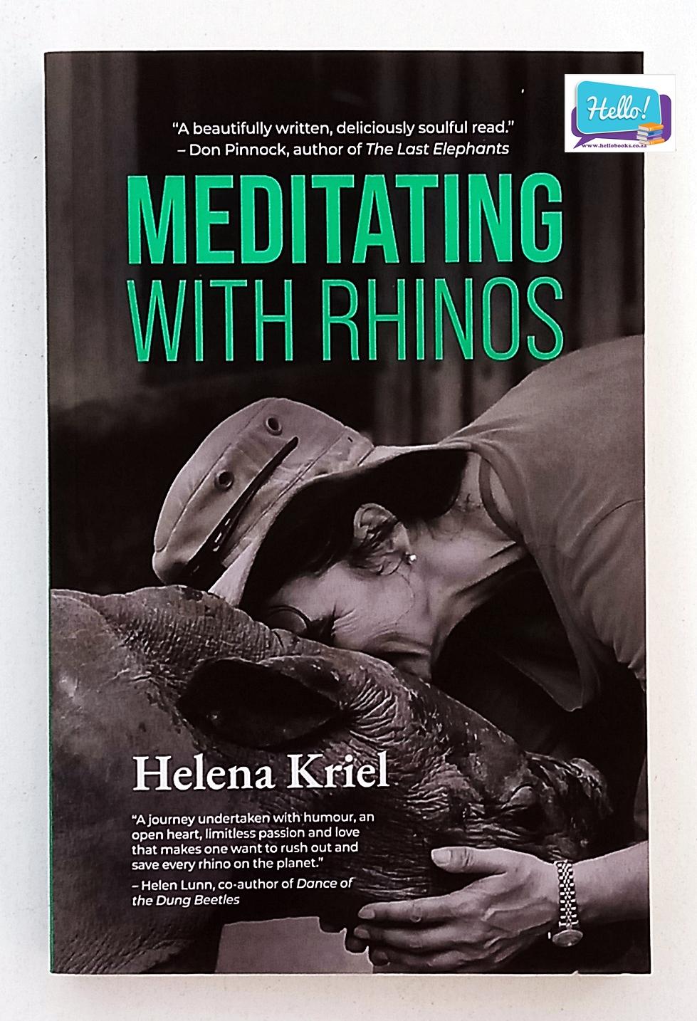 Helena Kriel Meditating with Rhinos