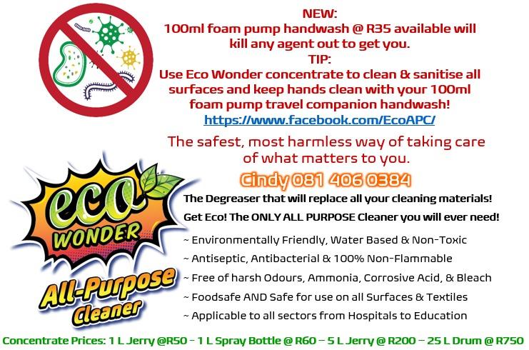 Antiseptic Antibacterial Eco Friendly Non-Toxic All Purpose Eco Wonder