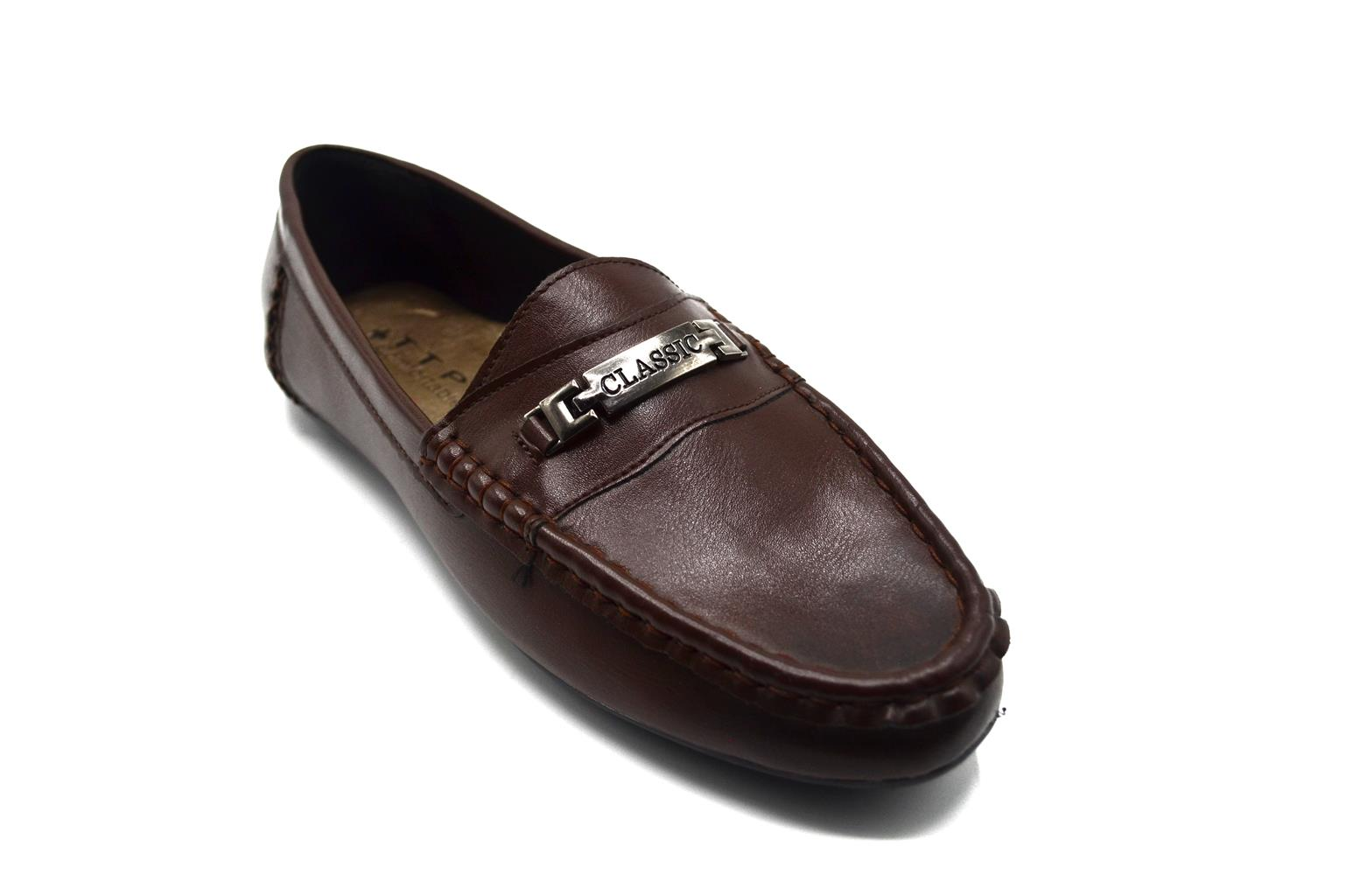 TTP BWN101058 MEN UPPER CLASSIC METAL AND SMART DESIGNED MOCCASIN