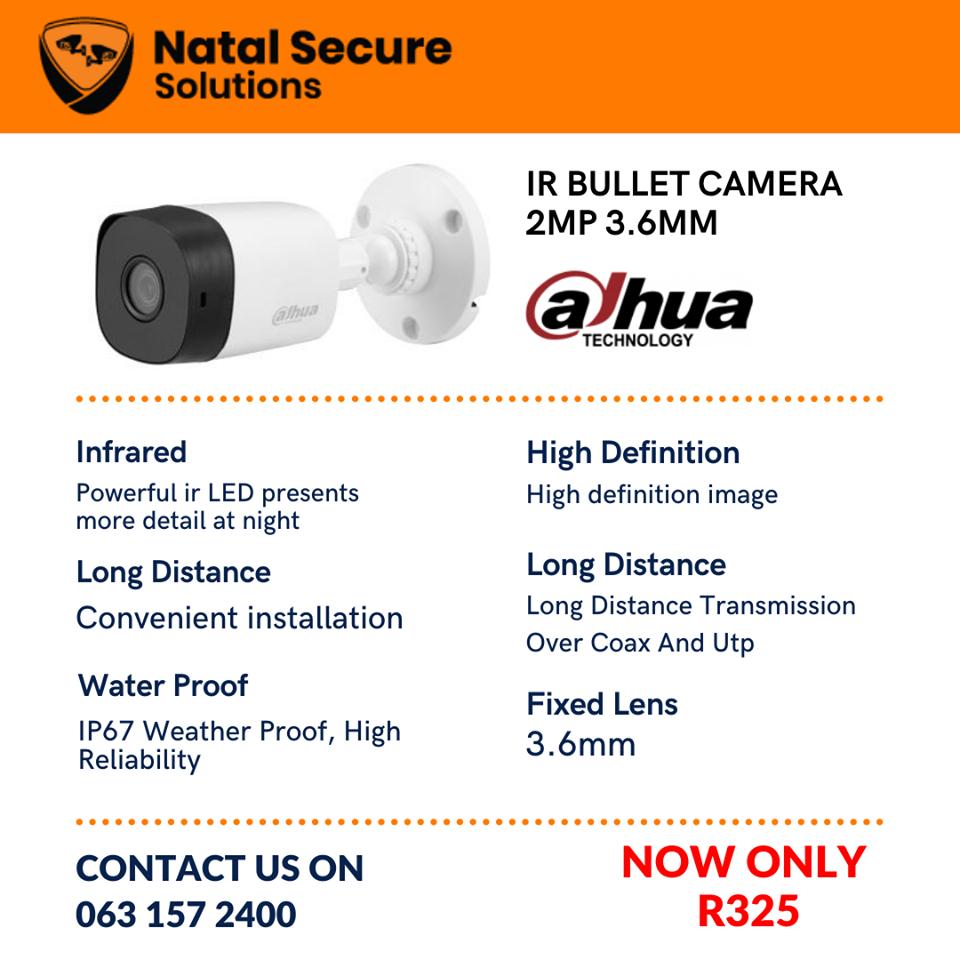dahua Ir Bullet Camera 3.6mm 2mp
