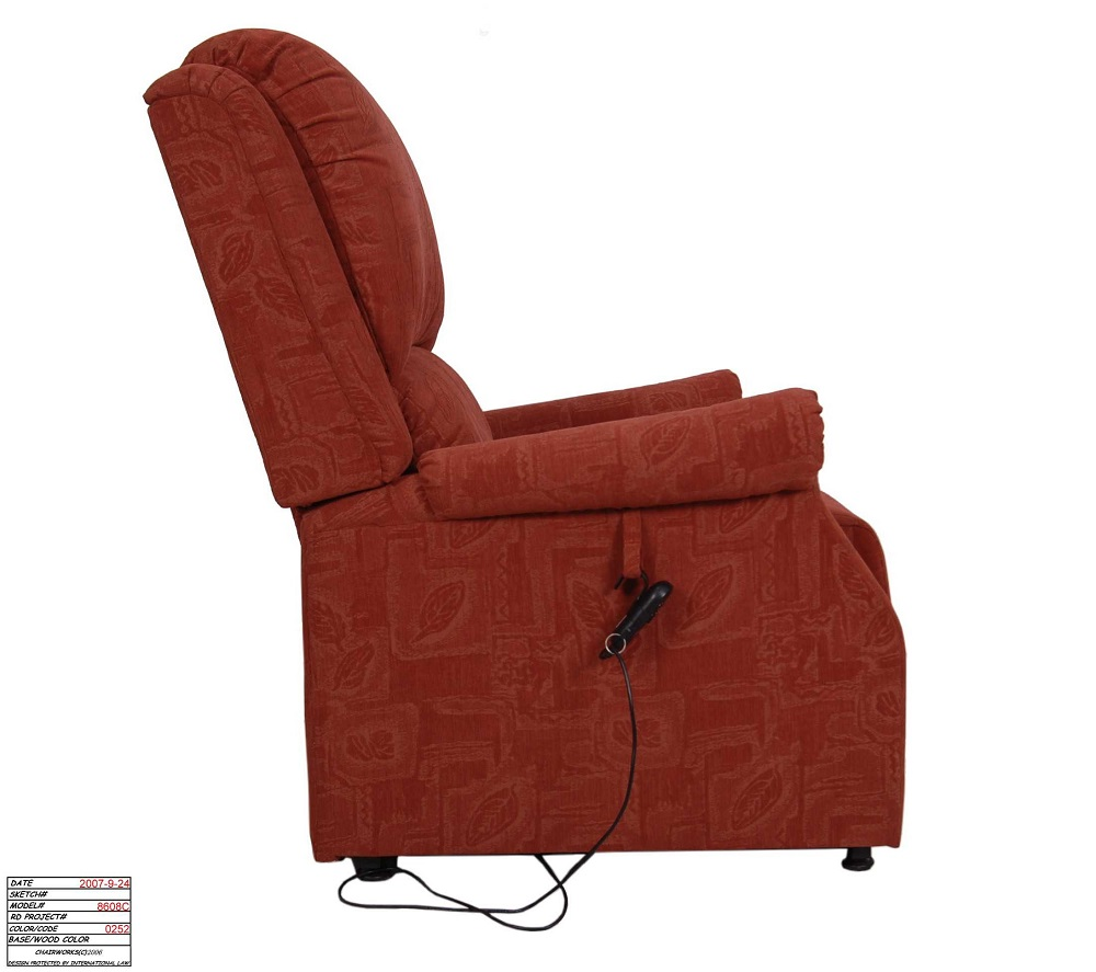 Rise Recliner - Restwell - Chicago - Beige and Terracotta, FREE Delivery, On Sale. While Stocks Last