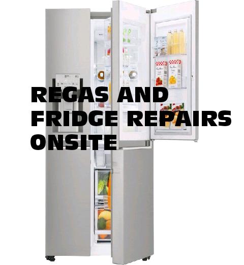 Fridge regas and repairs onsite
