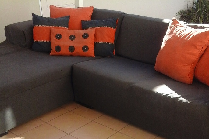 Modern Corner Lounge Suite Sleeper Couch Chairs Tables