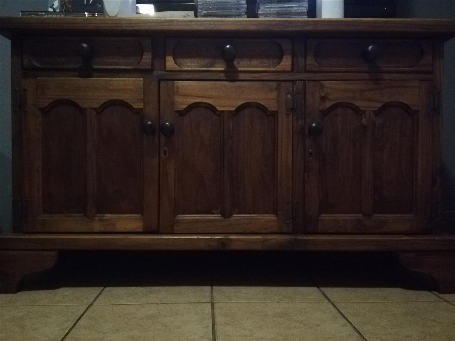 Stunning Genuine Imbuia wood cabinet for sale