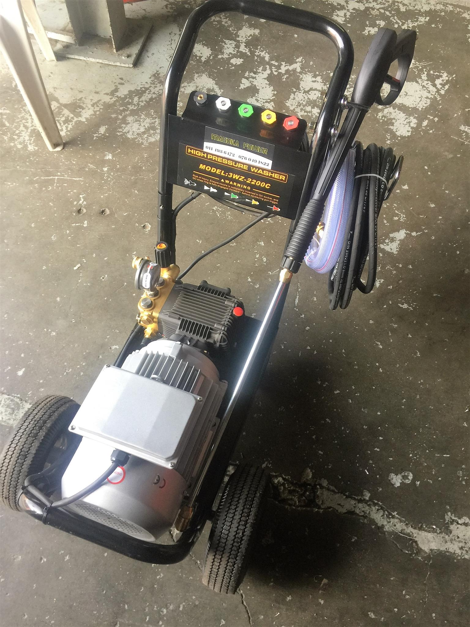 AN INCREDIBLE 12,900 FOR A 220V High Pressure Washer, HURRY STOCKS ARE QUICKLY