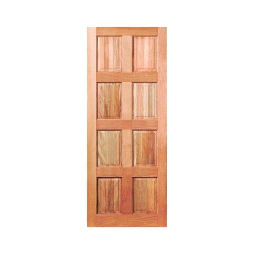8 Panel Exterior Hardwood Door 813mm x 2032mm