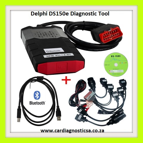 Car diagnostic Tool: Delphi DS150E bluetooth + 8 car adaptors