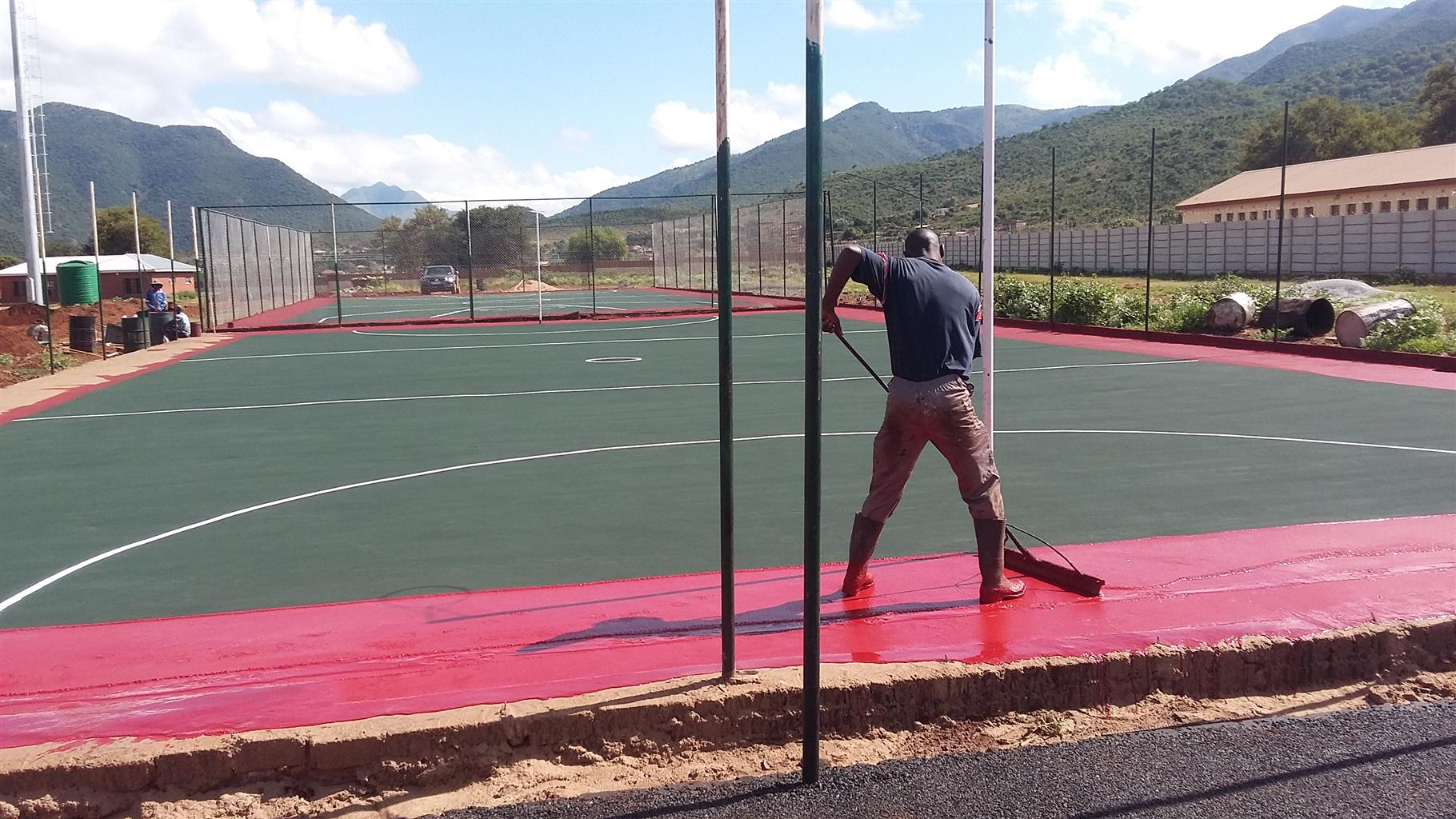 BASKET BALL  COURTS RENOVATION 078 226 9647  AND TENNIS BALL  RESURFACING ZEERUST  NORTHWEST
