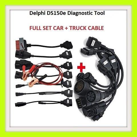 Car tool: Delphi DS150E Pro Diagnostic Tool Bluetooth + Car, Truck  Adapters