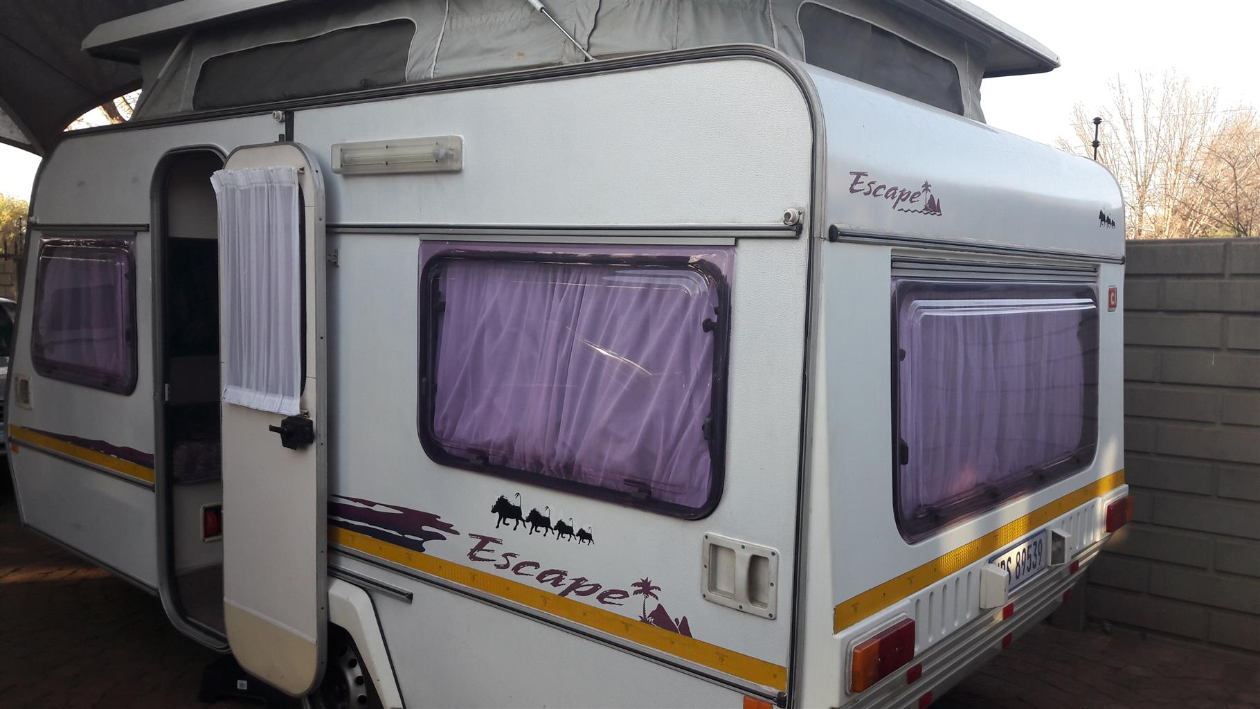 sprite escape with full tent and big fridge and freezer in excellent condition must be seen