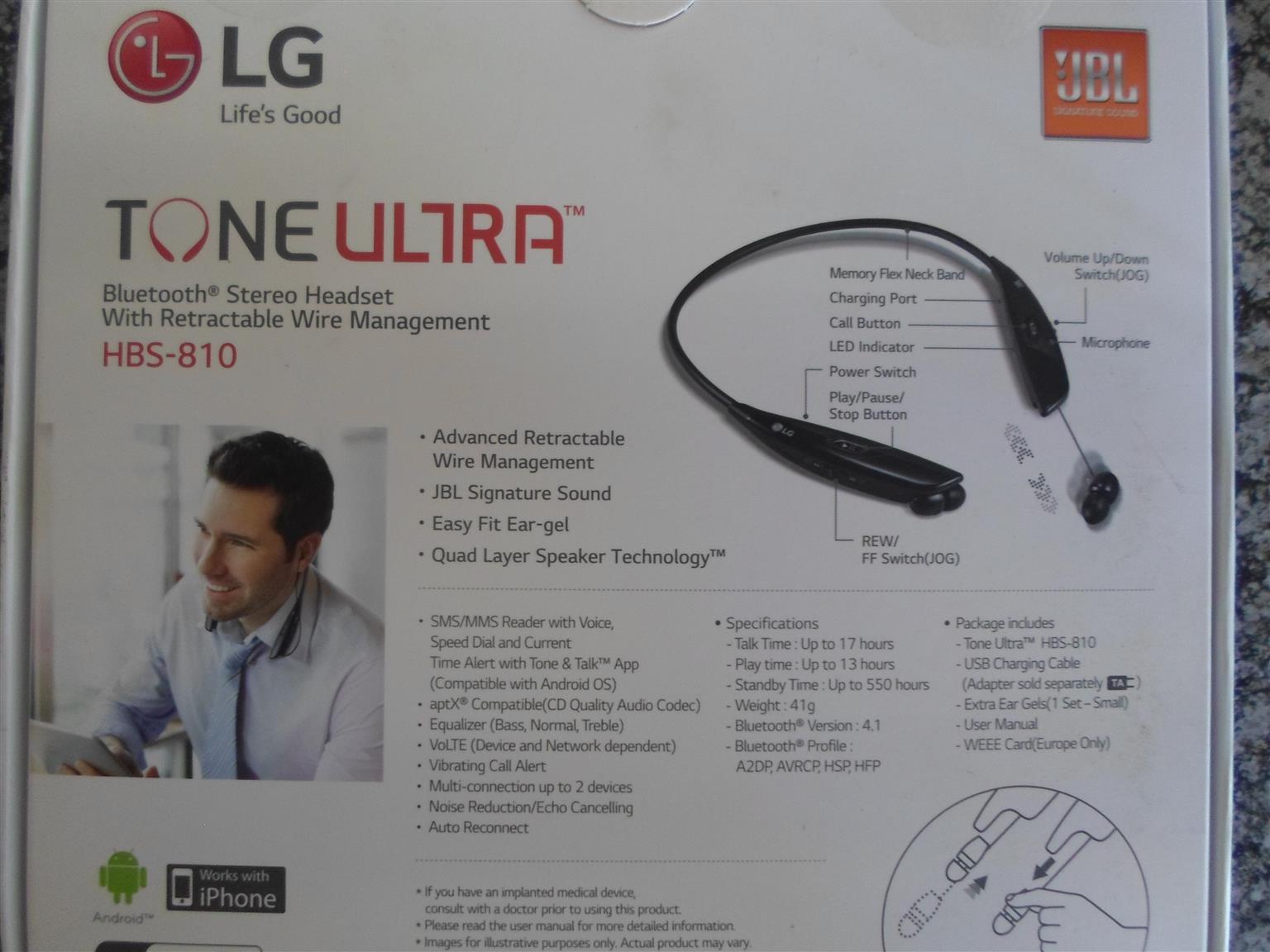 LG Bluetooth Stereo Headset
