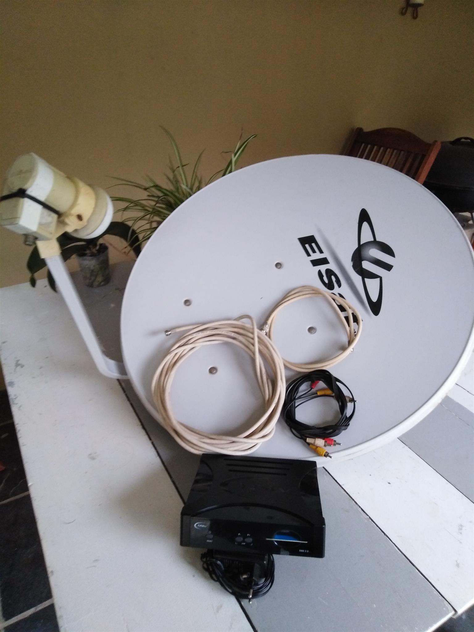 LOGIK 54cm TV plus DSTV decoder plus complete dish and cables.