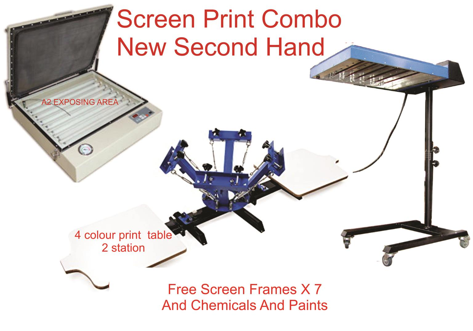 SCREENPRINT EQUIPMENT FORSALE