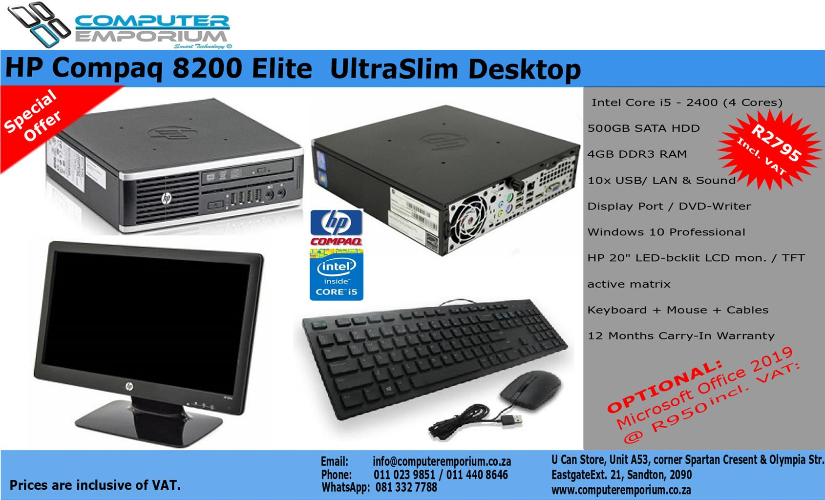 HP Compaq 8200 Elite UltraSlim Desktop