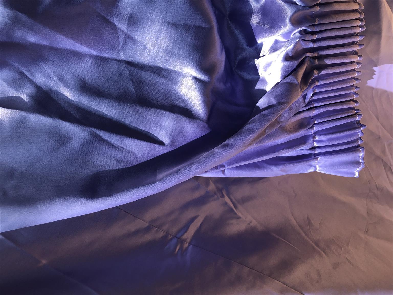 Lilac Bridal Satin curtains