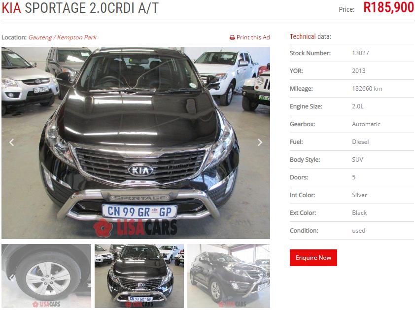 2013 Kia Sportage 2.0CRDi AWD auto