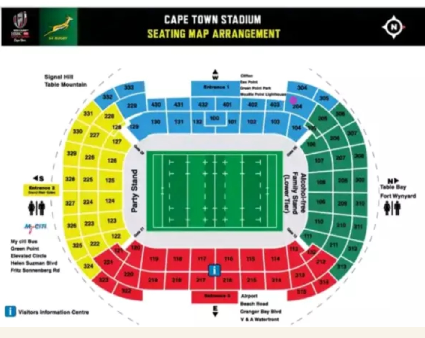 HSBC SEVENS rugby tickets in Cape Town on 15 December 2019