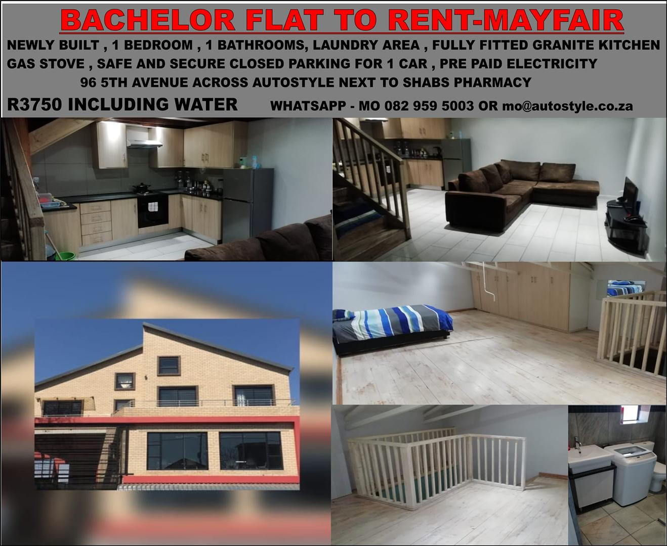 To let Bachelor flat newly built 1 bedroom