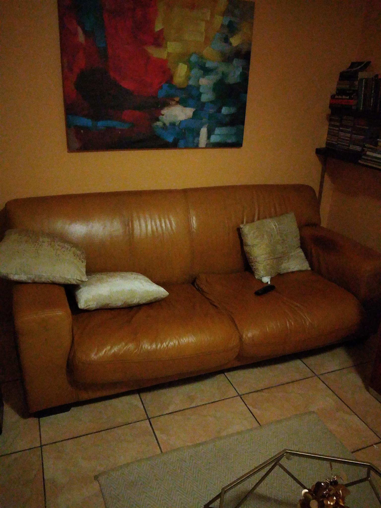 Coricraft genuine leather 3+2 suite