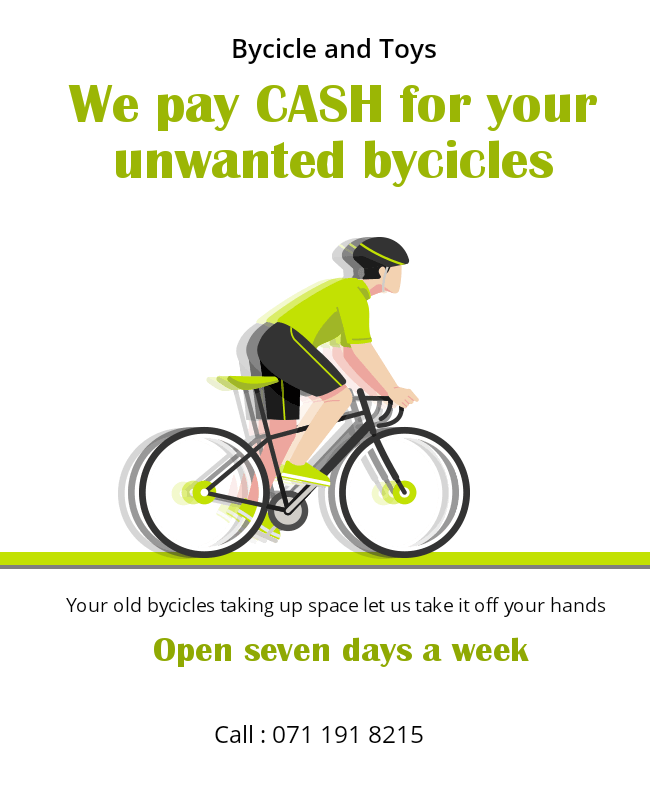 Unwanted bycicles