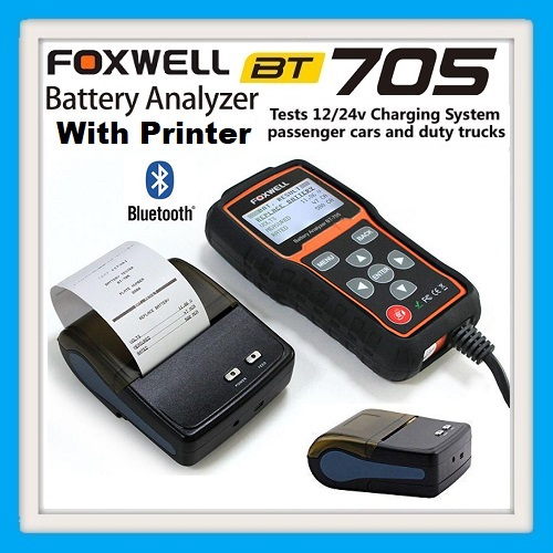 Battery tester Foxwell BT705 Battery Analyzer for 12V and 24V With Bluetooth Printer