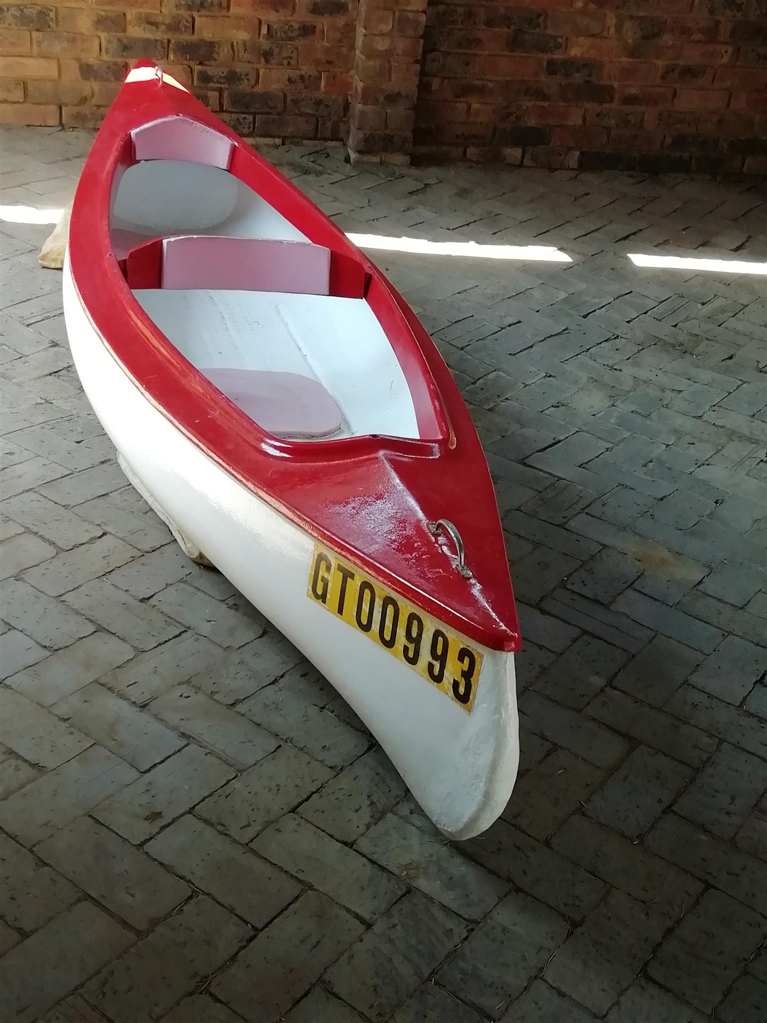 Bargain!!! Fibre glass double seater canoe
