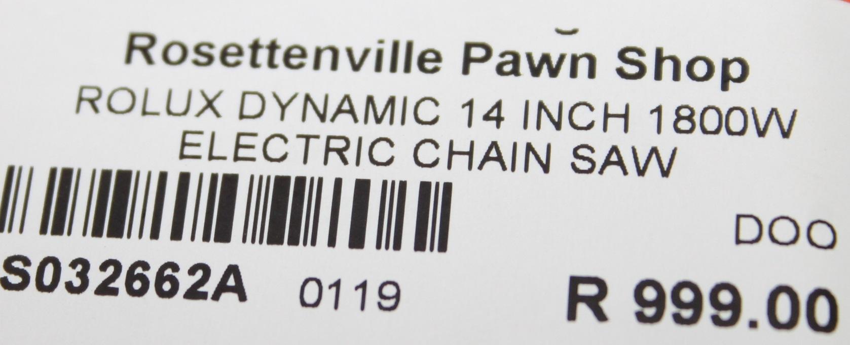 Rolux dynamic 14 inch 1800w electric chain saw S032662A #Rosettenvillepawnshop