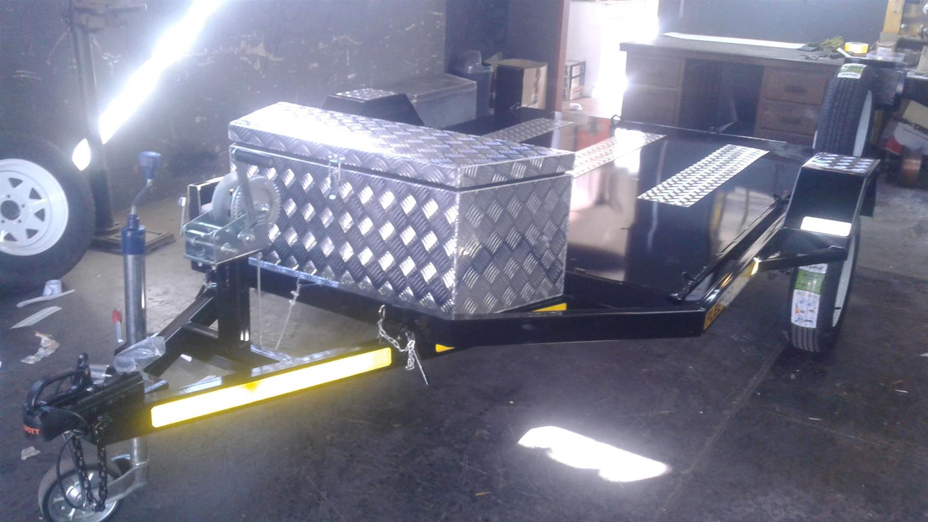 Easy loading Swivel Bike trailers for sale