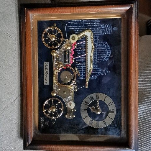 ANTIQUE CLOCK ROLLS ROYCE 1910 DECOR