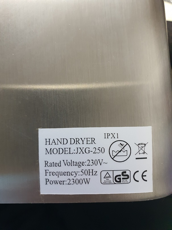 Golden Touch Automatic Hand Dryer – S/S