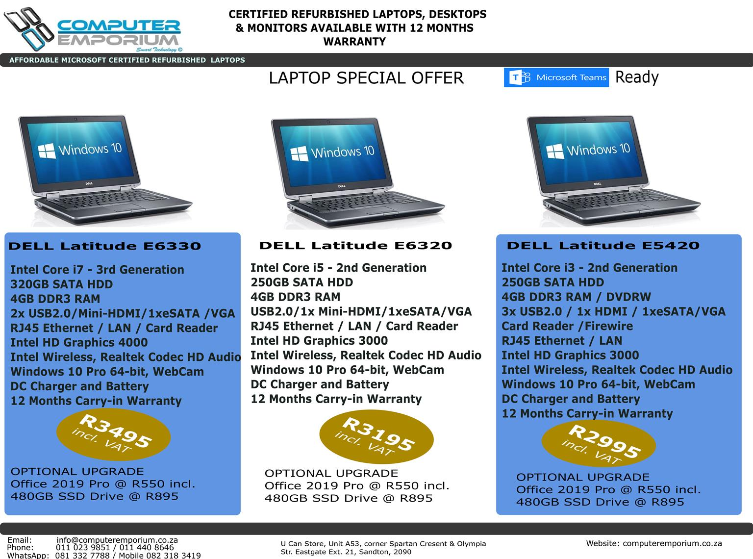 DELL Latitude Laptops Special Offer