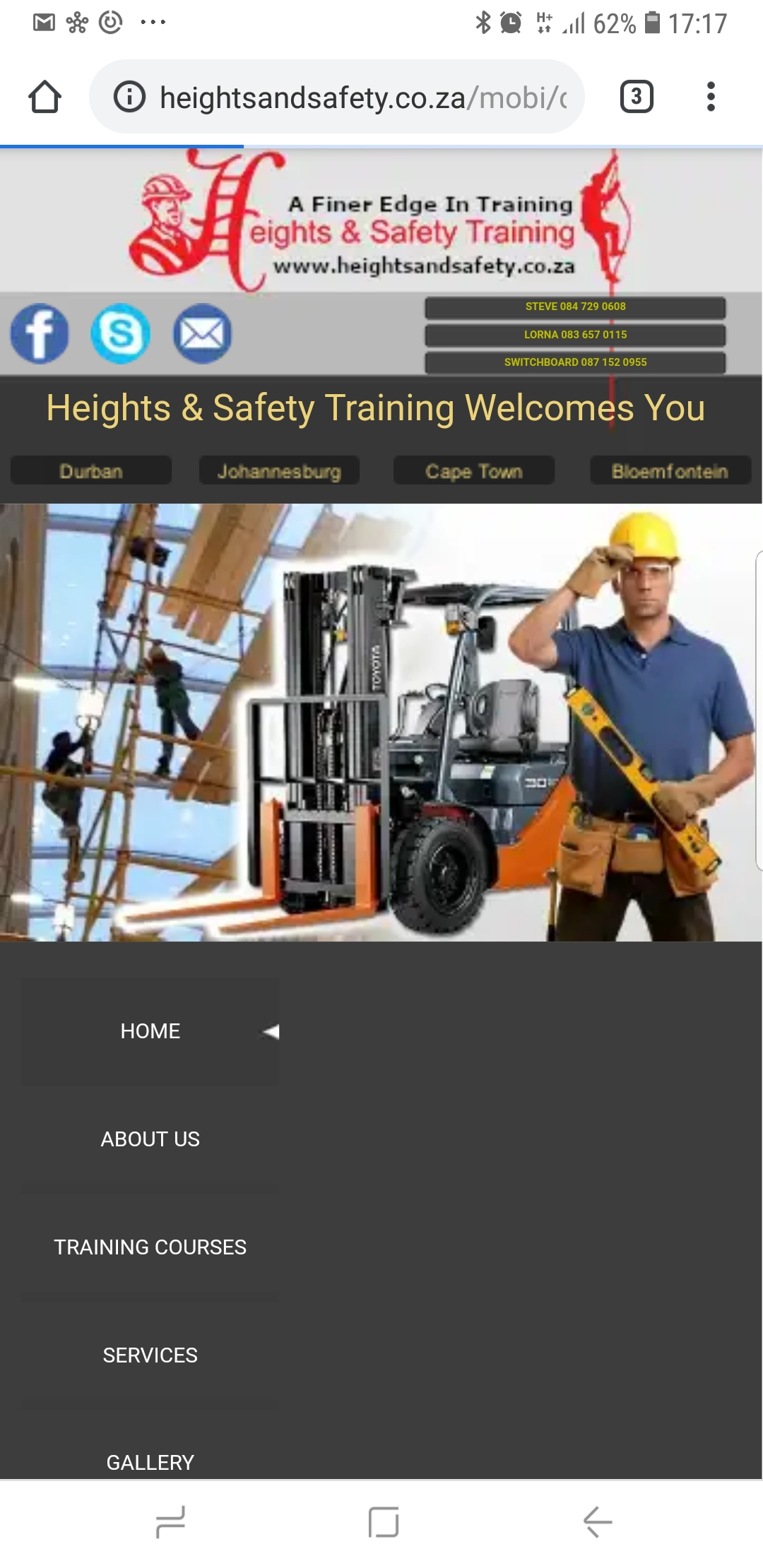 Working at Heights training onsite