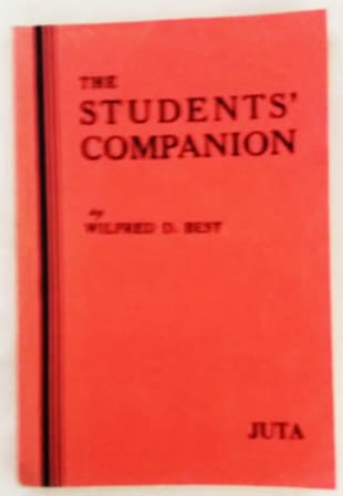 The Students Companion by Wilfred D. Best