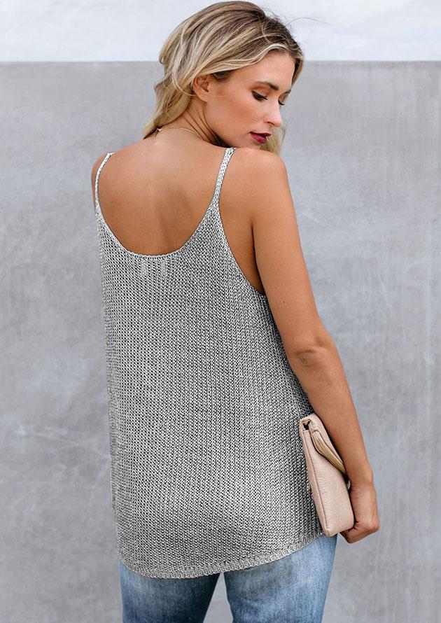 Ladies Tank Knitted Camis