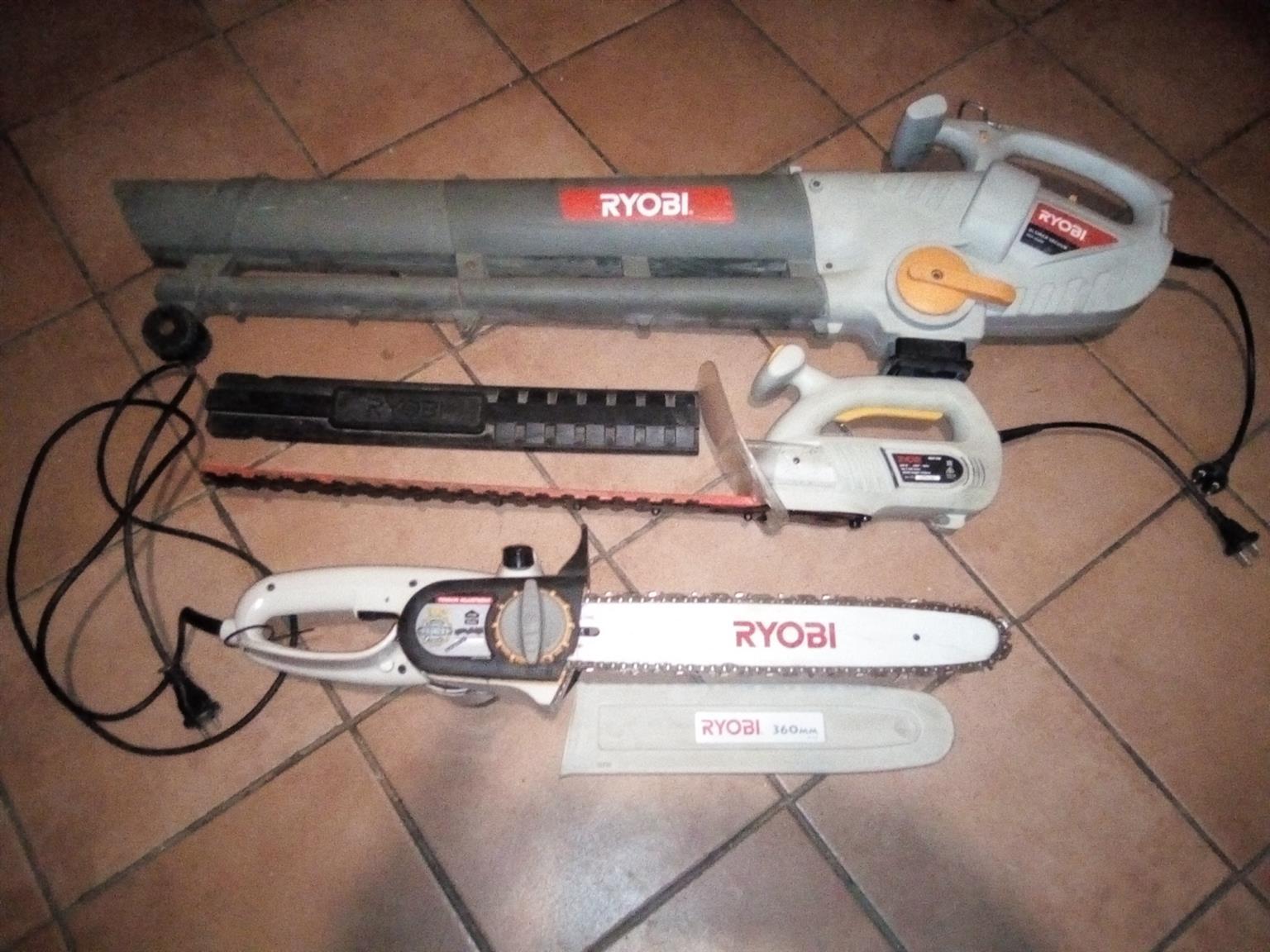 Ryobi Chainsaw elc, Trimmer, Blower