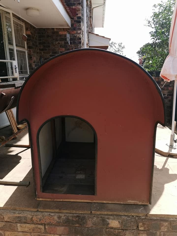 Large fiberglass dog kennel