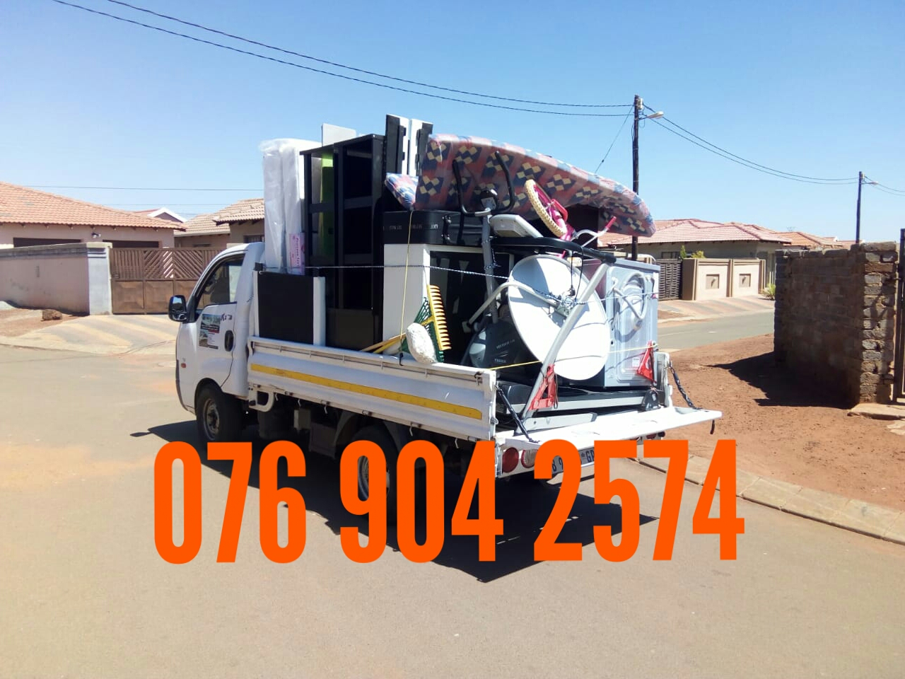 Bakkie for hire with a driver