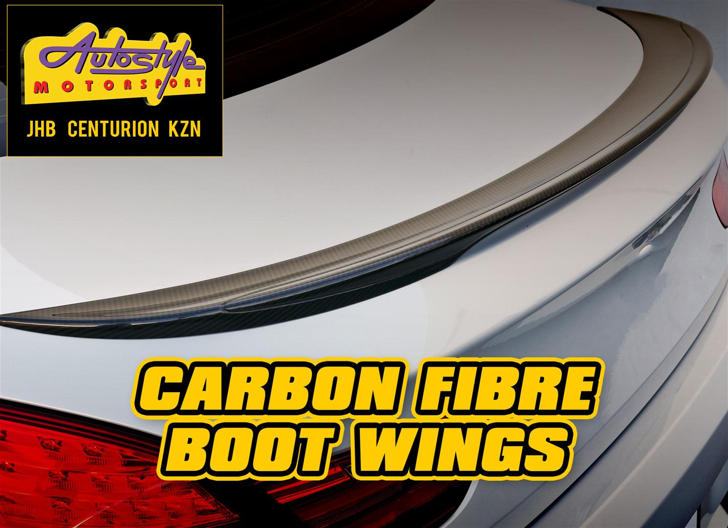 Carbon Fibre bootwings and bootspoilers